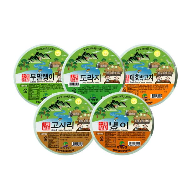 목지농산 / 나물 골라담기 / 무말랭이,애호박고지,냉이,도라지,고사리