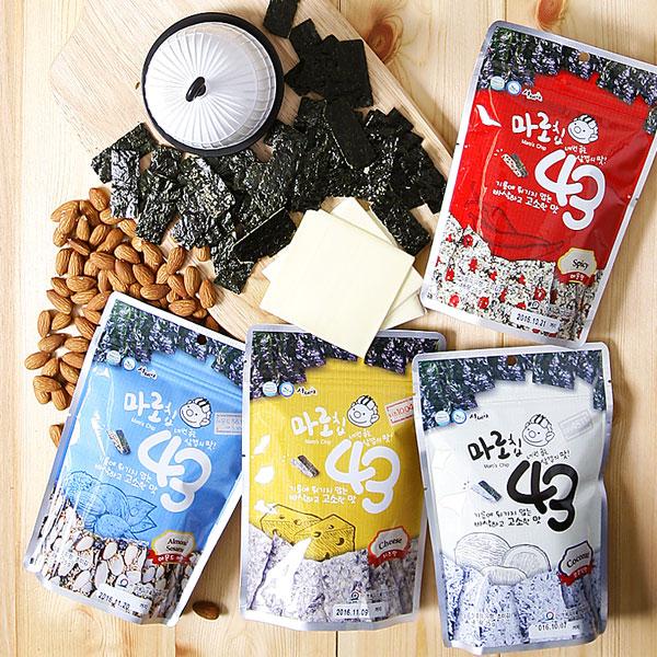 명품김주식회사 / 명품김 4종(아몬드깨맛,코코넛맛,치즈맛,매운맛) 10개 골라담기