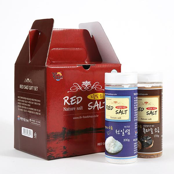 태현식품/레드솔트/RED SALT/선물용/2A-1호(천일염200g,흑마늘소금170g)/2A-2호(천일염200g,꽃게소금200g)/2A-3호(흑마늘170g,꽃게소금200g)