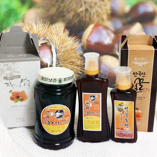 꽃봉오리벌꿀농원 / 공주밤꿀 / 공주밤 벌꿀 / 국내산 / 500g/1kg / 2.4kg(보자기포장 선택가능)